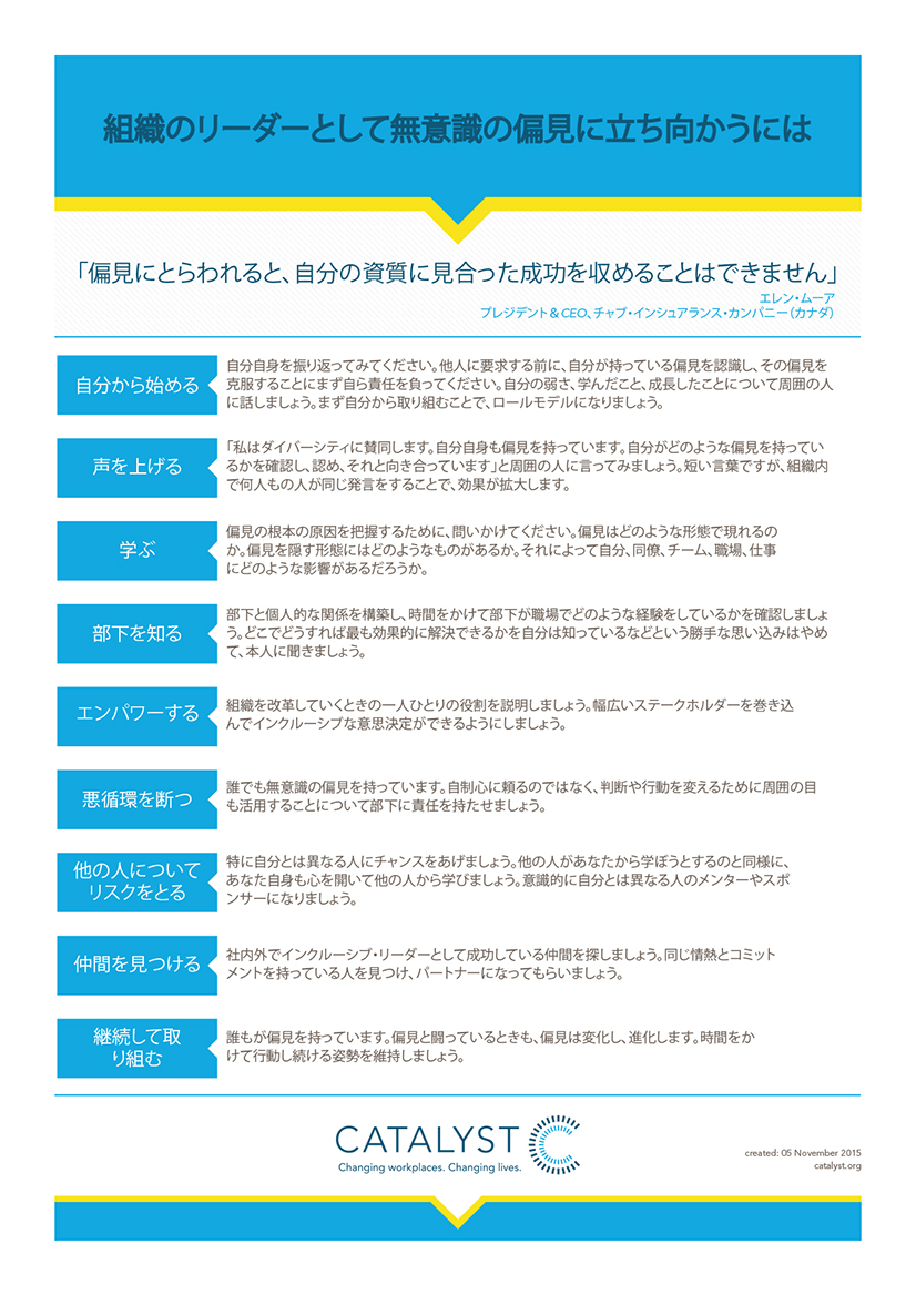 How to Combat Unconscious Bias as a Leader in Your Organization (Japanese Version)
