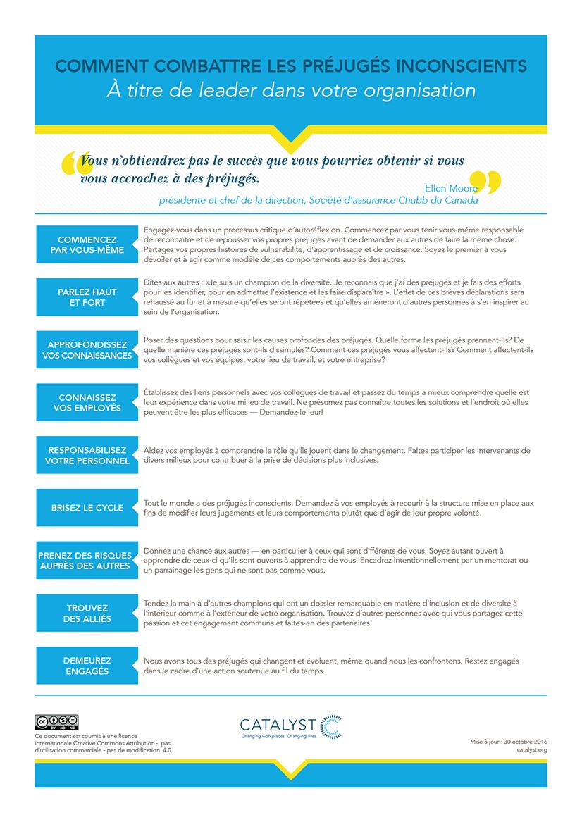 Comment combattre les préjugés inconscients à titre de leader dans votre organisation