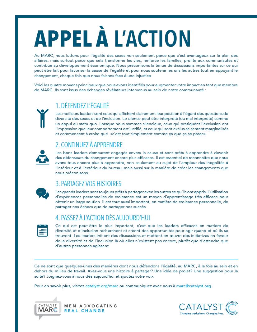 MARC Appel À L'Action