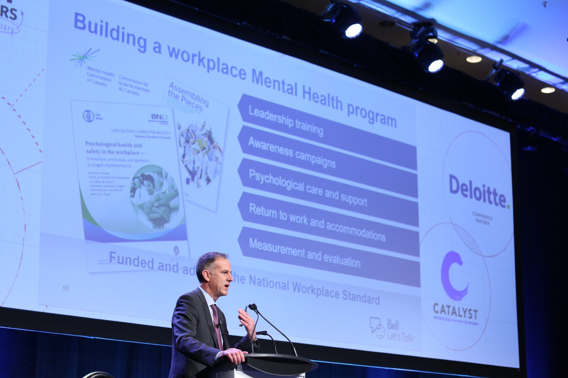 """""""Mental health in the workplace is good for people and good for business."""" —Bernard le Duc Executive VP, Corporate Services, Bell"""