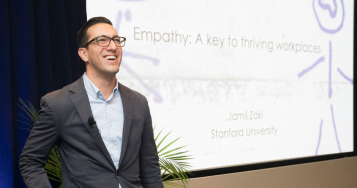 Keynote Speaker Dr. Jamil Zaki, Professor, Psychology, Stanford University talked about how empathy is an organizational superpower.