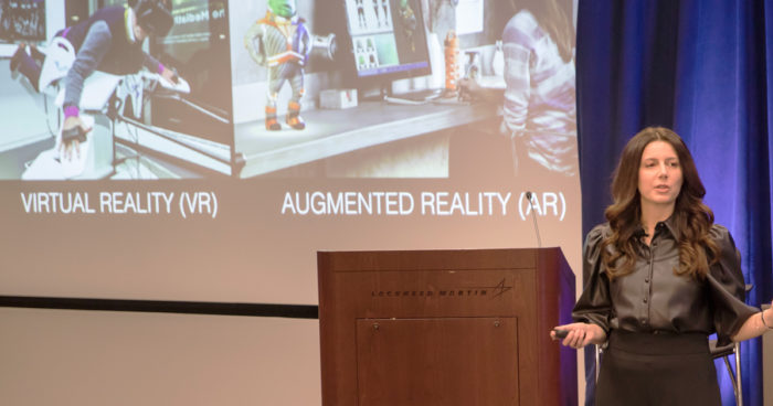 Keynote Speaker Dr. Helen Papagiannis shared how Technology Is Shaping the New Reality.