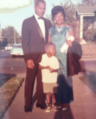 Young Lee Jourdan with his parents.